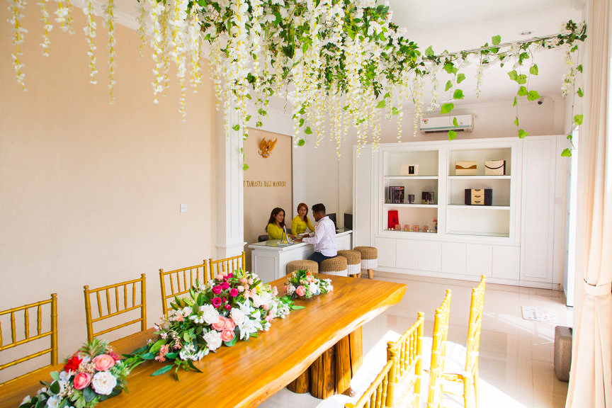 wedding planner office in bali