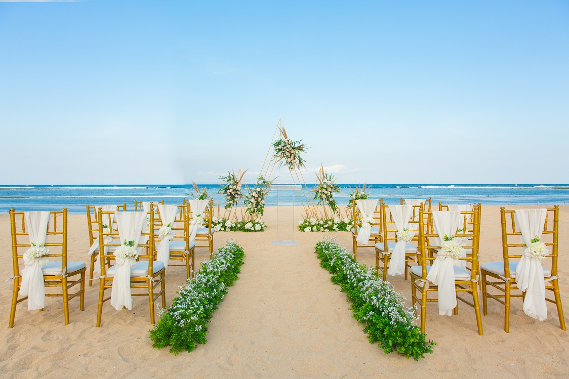 bali wedding beachfront